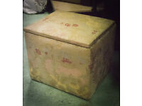 Vintage Embroidered Storage Box