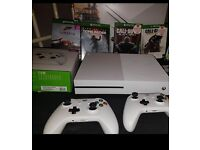 Xbox one s with games and extra controller