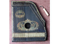 """Piano Chord"" - harp/zither type musical instrument; needs a bit of t.l.c. to get it playing in tune"