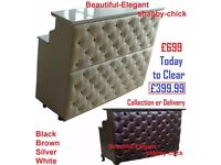 New Salon Furniture Reception Shabby Chic Manicure Nail Desk Antique Back Wash Shampoo Waiting Sofa