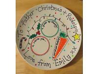 Personalised Santa treat Christmas eve plate