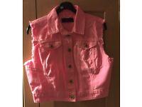 Pink Denim Waistcoat. Never Worn.