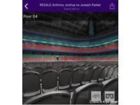 Joshua Vs Parker 4 Tickets Face Value FLOOR Seats