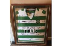 Framed & Signed Celtic Shirt 2000/01