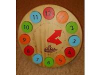 Childs wooden clock