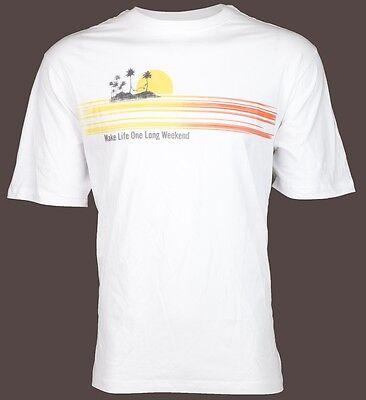 Tommy Bahama Mens T Shirt Make Life One Long Weekend Relax White Camp Xl 3Xl  45