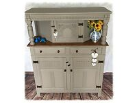 Solid Oak Antique Court Cupboard Cabinet Buffet Delivery Avaliable