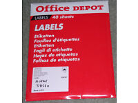 various printer labels