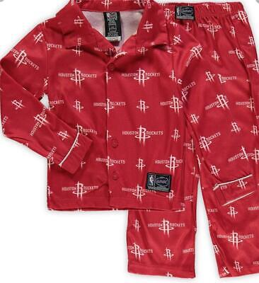 Houston Rockets Youth All Over Pajama Set - Red Sz. S
