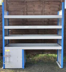 Van Racking / Shelving - Good Condition - 4 Shelves - Tool Station - Suitable For Medium To Big Van