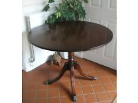 Mahogany Circular Dining or occasional or hall table