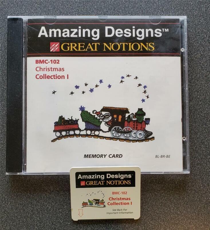 Brother/Babylock/Bernina  Embroidery  Card, BMC-102 Christmas Coll I, Used