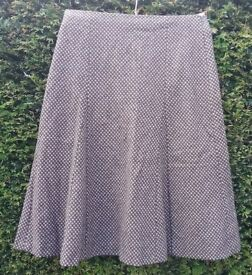 Boden Pink & Brown Dogtooth Skirt Size 12L