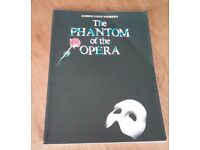 Phantom of the Opera Piano/ Vocal Sheet Music/ Song Book