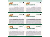 6x VUE Cinema Tickets/Vouchers