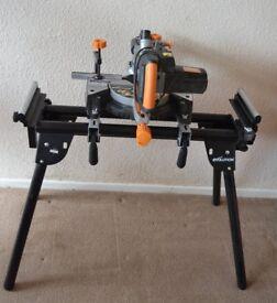 Evolution RAGE3-S 240V sliding compound mitre saw and stand