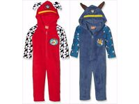 Paw Patrol Fleece Onesie Pyjamas Nightwear Chase Marshall Sleepsuit 2-6 Years