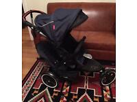 Phil and ted navigator v2 double pushchair with rain cover and cocoon auto brake . Buggy . Pram .