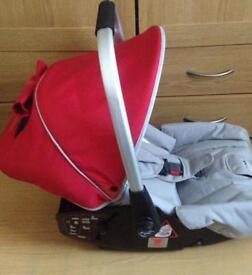 Red castle sport car seat