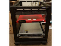 12U server rack with switch, rackmount server and more