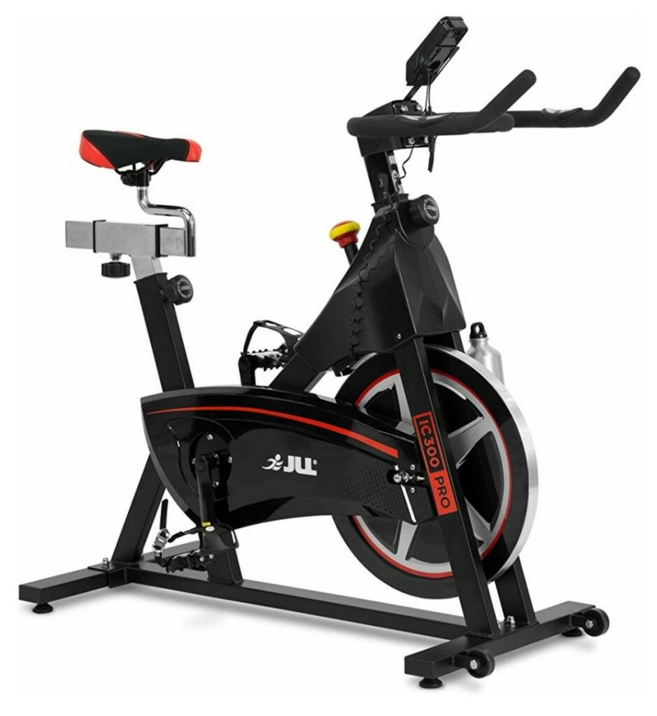 Jll ic pro indoor cycling exercise bike direct belt driven