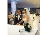 "Single 100"" tier ivory scattered crystal wedding Veil"
