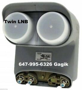 Bell satellite Dishes Twin Quad LNB's & DPP SW44 Receivers Installation