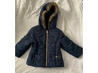 12-18 months baby navy winter coat
