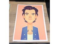 Harry Styles A4 print from event