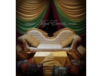 Mendhi Stage Hire Mendi Decoration £299 Nikkah Stage Hire £199 Gold Throne Rental Engagement Staging