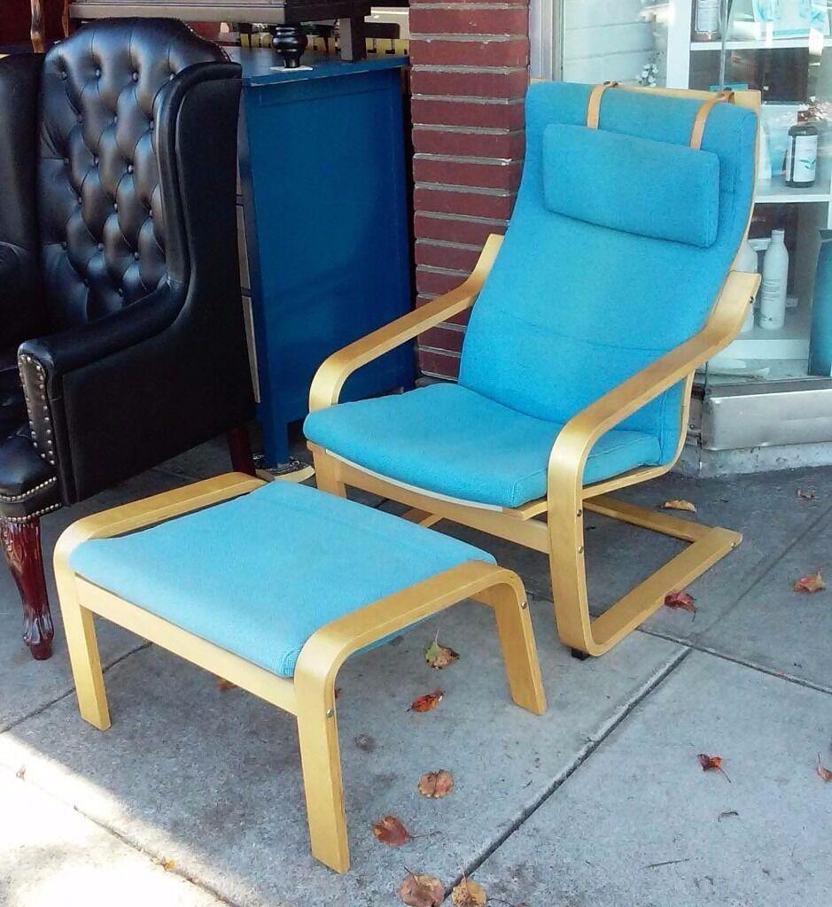 Ikea Poang Armchair Turquoise