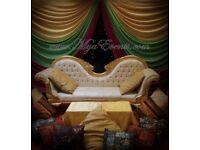 Mendhi Mehendhi Stage Decoration Hire £299 Wedding Platform Hire £350 Table Centrepiece Hire £4 sale