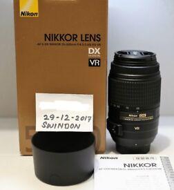 Mint Nikon DX AF-S 55-300 f/4.5-5.6G ED lens UK Model Hardly Used