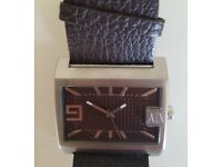 Mens Armani Watch AX1060, Brown Leather Strap
