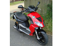 55MPH Deristricted 2009 Piaggio NRG 50cc LC Scooter 2 Stroke SPORTS MOPED 1 Years MOT Electric Start