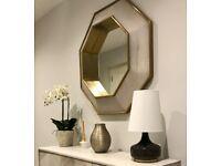 Wooden Octavia Wall Mirror