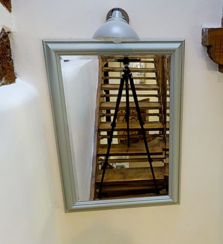 Large hand-painted Annie Sloane mirror