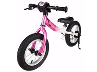 BIKESTAR® Kids Safety Balance Bike for fashion-conscious princesses aged 3+ 12'' gloss pink