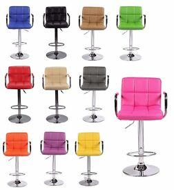 New *£40* Cuban Executive Faux Leather Computer Office Desk Swivel Studio Salon Barber Wheels Chair