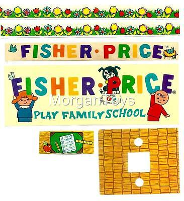 Vintage FISHER-PRICE SCHOOL #923 REPLACEMENT LITHOS Little People Play Family