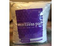 Small Double Exceptional Sheets Mattress Topper & John Lewis Mattress Protector