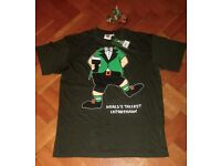 Funny St. Patricks Tee Shirt and comic Irish Leprechauns