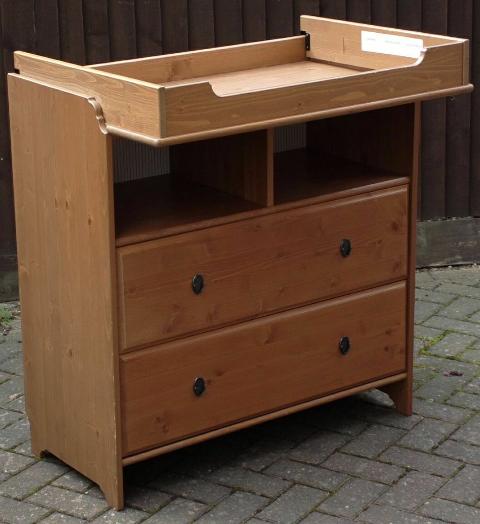 Ikea Leksvik Baby Change Table Chest Of Drawers Convertible