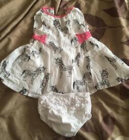 0 to 3 month girls summer dresses