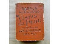 vistas del peru ' vintage ( circa 1920 ) playing cards
