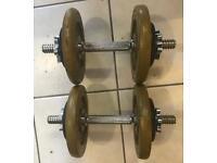 2 x 10.5kg Spinlock Dumbells total 21kg