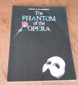 Phantom of the Opera Piano/ Vocal Sheet Music/ Song Book