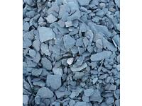 Free used blue slate chippings around 20 rubble sacks worth