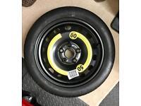 VW, Audi, Skoda Space saver spare wheel and tyre 5 stud