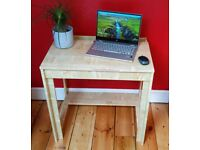 Stylish, compact wooden home desk
